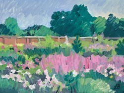 English Garden by Leila Barton -  sized 16x12 inches. Available from Whitewall Galleries